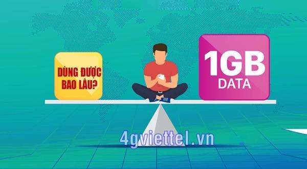 Bạn có biết 1GB data sử dụng trong bao lâu?