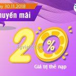 Viettel khuyến mãi 30/11/2018 ưu đãi ngày vàng