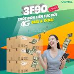 Đăng ký gói cước 3F90 Viettel ưu đãi 4 trong 1 dùng trong 3 tháng