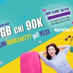 Đăng ký gói cước XL90 Viettel chỉ 90.000đ có ngay 9GB data