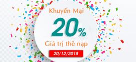 Viettel khuyến mãi ngày 20/12/2018 ưu đãi ngày vàng trả trước