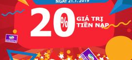 Viettel khuyến mãi 21/1/2019 ưu đãi ngày vàng toàn quốc