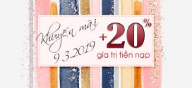 Viettel khuyến mãi 9/3/2019 ưu đãi ngày vàng tặng 20% tiền nạp