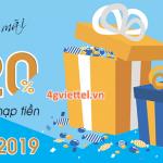 Viettel khuyến mãi 10/4/2019 ưu đãi ngày vàng toàn quốc