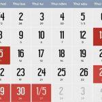 Lịch nghỉ Giỗ Tổ Hùng Vương và 30/4 - 1/5 năm 2019 người lao động nghỉ 8 ngày