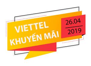 Viettel khuyến mãi 26/4/2019 ưu đãi ngày vàng tặng 20% thẻ nạp trả trước
