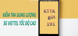 Cách kiểm tra dung lượng 3G Viettel tốc độ cao còn lại miễn phí