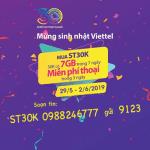 Khuyến mãi gói ST30K Viettel tặng gọi thoại không giới hạn trong 3 ngày