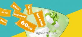 Đăng ký gói cước 12XL50 Viettel xài data thả ga 60GB/12 tháng