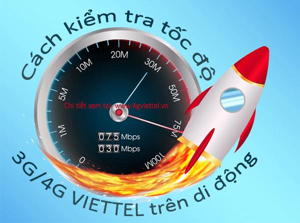 Cách kiểm tra tốc độ mạng 3G/4G Viettel trên di động