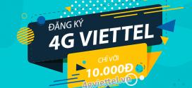 Tài khoản di động còn 10.000đ nên đăng ký gói 4G Viettel nào?