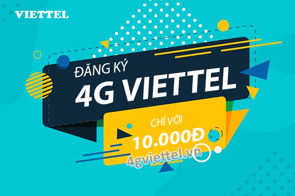 Tài khoản di động còn 10.000đ nên đăng ký gói 4G Viettel nào