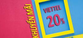 Viettel khuyến mãi 20/7/2019 ưu đãi NGÀY VÀNG tặng 20% thẻ nạp