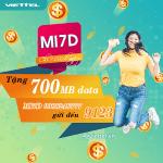 Đăng ký gói MI7D Viettel ưu đãi 700MB data giá gói chỉ 7k