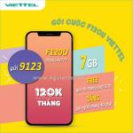 Đăng ký gói cước F120U Viettel nhận ngay 7GB data và FREE gọi không giới hạn