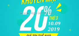 Viettel khuyến mãi 10/9/2019 nạp thẻ NGÀY VÀNG tặng 20% giá trị nạp