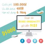 Đăng ký gói D500U Viettel data trọn gói 48GB dùng thả ga trong 6 tháng