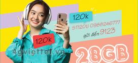 Đăng ký gói ST120U Viettel miễn phí 1GB/ ngày x 28 ngày giá chỉ 120.000đ