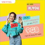 Đăng ký gói cước XL90U Viettel trọn gói data 9GB chỉ 90.000đ/tháng