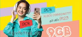 Đăng ký gói XL90U Viettel nhận data trọn gói 9GB chỉ với 90.000đ/tháng
