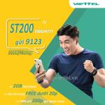 Đăng ký gói ST200 Viettel ưu đãi 60GB data, gọi nội mạng không giới hạn và 200 phút gọi ngoại mạng