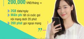 Hòa mạng trả sau gói V200 Viettel truy cập mạng 2GB/ngày + Free gọi thoại