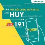 Hướng dẫn cách hủy 4G Viettel với 3 cách miễn phí