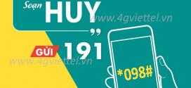 +3 Cách hủy gói cước 4G Viettel miễn phí qua tổng đài 191