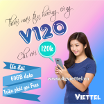 Đăng ký gói V120 Viettel nhận ngay 60GB data, triệu phút gọi nội và ngoại mạng