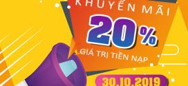Viettel khuyến mãi 30/10/2019 ưu đãi NGÀY VÀNG trên toàn quốc