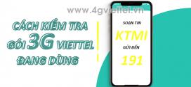 3 cách kiểm tra gói cước 3G Viettel đang sử dụng đơn giản miễn phí