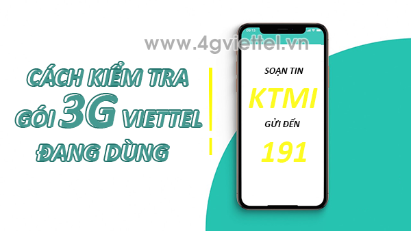 Cách kiểm tra gói cước 3G Viettel đang dùng với 3 cách
