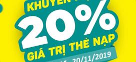 Viettel khuyến mãi 20/11/2019 ưu đãi 20% mừng ngày NHÀ GIÁO VIỆT NAM