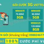 Tổng hợp các gói cước 3G Viettel trọn gói không giới hạn dung lượng