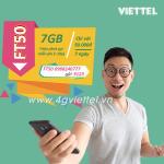 Đăng ký gói FT50 Viettel nhận ngay ưu đãi 7Gb data và gọi nội mạng không giới hạn