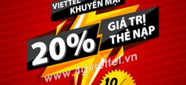 HOT – Viettel khuyến mãi 10/1/2020 ưu đãi NGÀY VÀNG trên toàn quốc