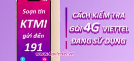 Hướng dẫn 3 cách kiểm tra gói cước 4G Viettel đang sử dụng nhanh nhất