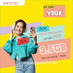 Cách đăng ký gói V30X Viettel ưu đãi 3,5GB data chỉ 30k/tuần