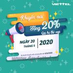 Viettel khuyến mãi 20/5/2020 ưu đãi NGÀY VÀNG toàn quốc