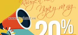 Viettel khuyến mãi 30/5/2020 NGÀY VÀNG nạp thẻ tặng 20% tiền nạp