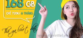 Cách đăng ký gói 6ST120 Viettel nhận 168GB data dùng thả ga 6 tháng