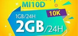 Cách đăng ký gói MI10D Viettel nhận 2GB data dùng thả ga đến 24h