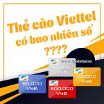 Mã số thẻ cào Viettel có bao nhiêu số