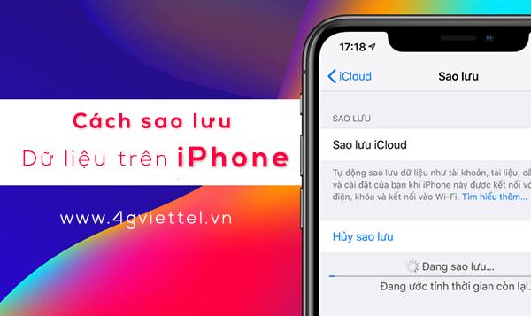 Hướng dẫn cách sao lưu dữ liệu trên iPhone vào iCloud và vào máy tính