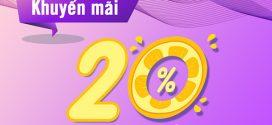 Viettel khuyến mãi ngày 10/7/2020 NGÀY VÀNG tặng 20% thẻ nạp