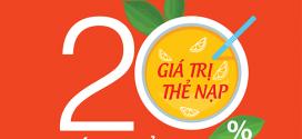 Khuyến mãi Viettel 30/7/2020 NGÀY VÀNG nạp thẻ tặng ngay 20%