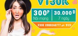 Cách đăng ký gói VT30K Viettel gọi thoại 300 phút chỉ với 30k