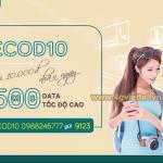 Cách đăng ký gói ECOD10 Viettel có ngay 500MB data giá chỉ 10.000đ