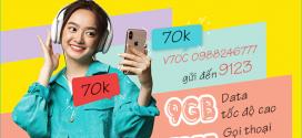 Cách đăng ký gói V70C Viettel miễn phí 9GB data + 1000 phút gọi