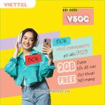 Cách đăng ký gói V50C Viettel miễn phí 2GB data, miễn phí gọi nội mạng